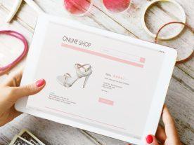 Woman enjoy online shopping